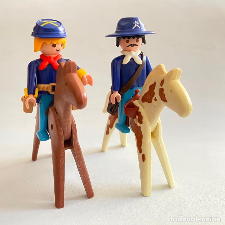 PLAYMOBIL FIGURAS MUÑECOS SOLDADOS DE LA UNIÓN NORDISTAS SUDISTA SEPTIMO OESTE CABALLOS GEOBRA 1974 (Juguetes - Playmobil)