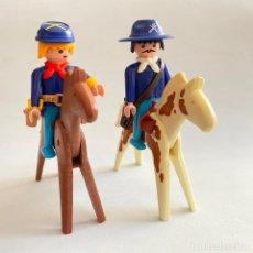 Playmobil: PLAYMOBIL FIGURAS MUÑECOS SOLDADOS DE LA UNIÓN NORDISTAS SUDISTA SEPTIMO OESTE CABALLOS GEOBRA 1974. Lote 222325086