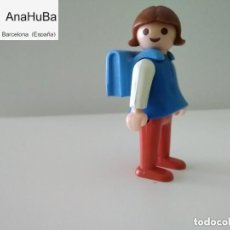 Playmobil: PLAYMOBIL NIÑO/NIÑA PELO MARRÓN CON CARTERA COLEGIO/LILI. Lote 208882188