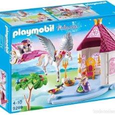 Playmobil: PLAYMOBIL PRINCESS 9289. CASTILLO, CABALLO ALADO PEGASO Y CARROZA. NUEVO EN CAJA ORIGINAL SIN ABRIR.. Lote 224741387