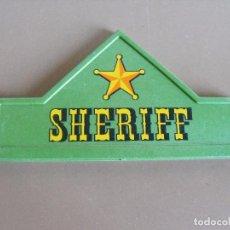 Playmobil: PLAYMOBIL FRONTAL DE ENTRADADE CASA DEL SHERIF DEL OESTE. DE LA REF. 3786. Lote 224742940