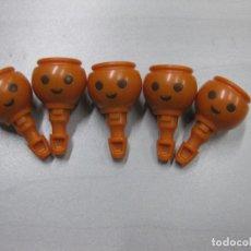 Playmobil: PLAYMOBIL LOTE 5 CABEZA RECAMBIO TEZ MORENA ARABE BELEN PIRATA. Lote 242831850