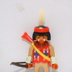 Playmobil: PLAYMOBIL MEDIEVAL FIGURA GUERRERO INDIO OESTE JEFE. Lote 277822518