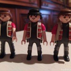 Playmobil: LOTE DE 3 CHICOS SAFARI, ZOO, TRABAJADOR DE OBRA, MECÁNICO, FONTANEROS. VER FOTOS PARA DETALLES. Lote 229258495