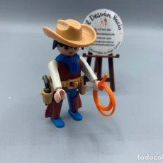 Playmobil: PLAYMOBIL FIGURA SEÑOR VAQUERO GANADO OESTE 3749. Lote 229894580