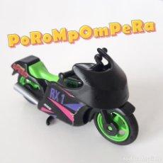 Playmobil: PLAYMOBIL MOTO DE CARRERAS NEGRA 3779 MOTOCICLETA COMPETICIÓN AÑOS 90. Lote 231207095