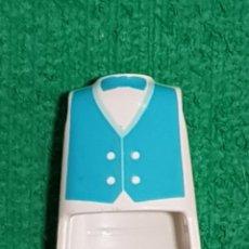 Playmobil: PLAYMOBIL CUERPO TORSO BLANCO AZUL PAJARITA BOTONES PIANISTA CABALLERO VICTORIANO CIUDAD OESTE. Lote 233254700
