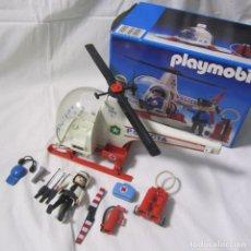 Playmobil: PLAYMOBIL HELICÓPETRO POLICIA REF. 3144, CON CAJA, INCOMPLETO. Lote 234100580