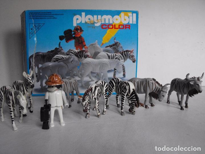 PLAYMOBIL. COLOR. SAFARI FOTOGRÁFICO. CON CAJA. FIGURAS PINTADAS A MANO. REF. 3677. (Juguetes - Playmobil)