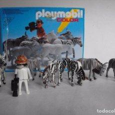 Playmobil: PLAYMOBIL. COLOR. SAFARI FOTOGRÁFICO. CON CAJA. FIGURAS PINTADAS A MANO. REF. 3677.. Lote 234374585
