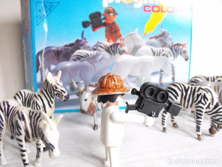 Playmobil: PLAYMOBIL. Color. Safari fotográfico. Con caja. Figuras pintadas a mano. Ref. 3677. - Foto 2 - 234374585