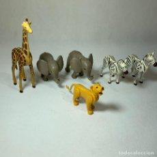 Playmobil: PLAYMOBIL - ANIMALES SAFARI - 2 ELEFANTES CRIA - 1 JIRAFA - LEONA - 2 CEBRAS. Lote 234719485