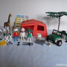 Playmobil: PLAYMOBIL. SAFARI CON TIENDA Y JEEP. PRIMERA ÉPOCA.. Lote 234758495