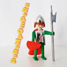 Playmobil: PLAYMOBIL FIGURA CABALLERO MEDIEVAL CROMADO 1ª ÉPOCA MANOS FIJAS AÑOS 70 SIMILAR 3261 3265 3332 3405. Lote 234839895