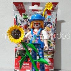 Playmobil: PLAYMOBIL PAYASA GIGANTE GIRASOL ZAPATO PATA LARGA ZANCUDA CIRCO SOBRE SORPRESA SERIE 18 CHICA 70370. Lote 234990615