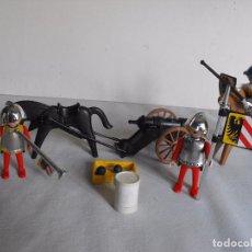 Playmobil: FAMOBIL. SOLDADOS IMPERIALES MEDIEVALES CON CAÑÓN. DE LA REF. 3409. INCOMPLETA.. Lote 235237240