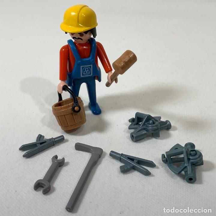 PLAYMOBIL - HOMBRE CONSTRUCTOR CON HERRAMIENTAS + CASCO + VALDE Y MAZO (Juguetes - Playmobil)