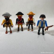 Playmobil: PLAYMOBIL - LOTE 4 VAQUEROS DEL OESTE - BANDIDO - SHERIF - MEDIEVAL. Lote 236095365
