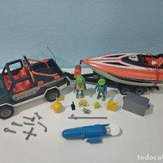 Playmobil: PLAYMOBIL JEEP-TODOTERRENO CON LANCHA 3399 CITY.... Lote 236299660