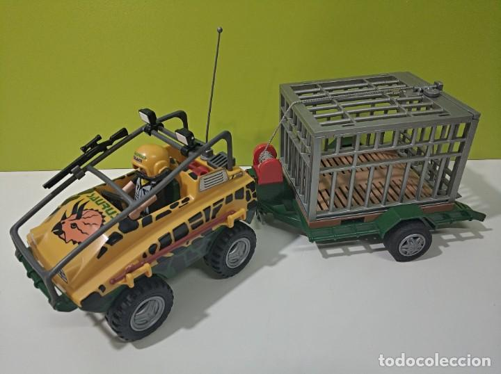 PLAYMOBIL JEEP-TODOTERRENO CON JAULA SAURUS 4175, DINOSAURIOS, SAFARY, CITY... (Juguetes - Playmobil)