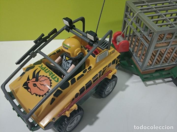 Playmobil: playmobil jeep-todoterreno con jaula saurus 4175, dinosaurios, safary, city... - Foto 2 - 236299780