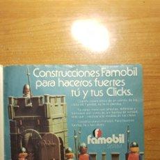 Playmobil: REVISTA DE 1978 CON PUBLICIDAD DE LOS CLICKS DE FAMOBIL - PLAYMOBIL. Lote 236549440