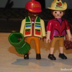 Playmobil: PLAYMOBIL *2 FIGURAS SAURUS TEAM* CUIDADORES, DINOSAURIOS, SELVA, RESERVA ANIMALES ... 2 FOTOS. Lote 237188610