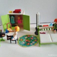 Playmobil: DORMITORIO PLAYMOBIL CITY LIFE DOLLHOUSE CON LUZ DE LA REF 9271. Lote 237897280