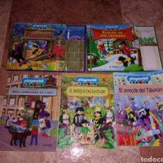Playmobil: PLAYMOBIL LIBROS AVENTURA EN AQUATAS RESCATE EN ALTA MONTAÑA EL BOSQUE ENCANTADO EL ARRECIFE DEL TIB. Lote 239443540