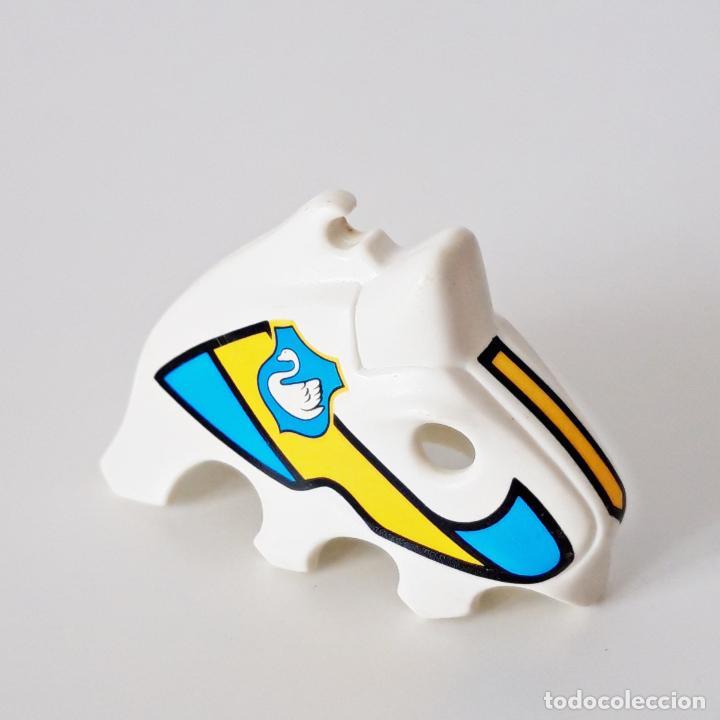 Playmobil: PLAYMOBIL MÁSCARA O CAPUCHA BLANCA CABALLO 3024 3372 3654 CABALLERO MEDIEVAL CISNE TORNEO - Foto 3 - 265175879