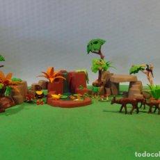 Playmobil: PLAYMOBIL-BOSQUE CON DUENDES-DIORAMAS,ANIMALES -ARBOLES. Lote 258836035