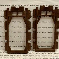 Playmobil: PLAYMOBIL 2 BASTIDORES PAREDES MARRONES PLANAS CASTILLO MEDIEVAL STECK 3666. Lote 242213880