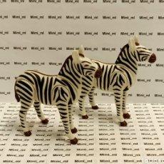 Playmobil: PLAYMOBIL 2 CEBRAS ADULTAS ANIMALES SALVAJES ZOO SAFARI NGORONGORO. Lote 242257165