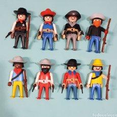Playmobil: LOTE DE PISTOLEROS, VAQUEROS, OESTE, WESTERN VINTAGE DE PLAYMOBIL. Lote 242492425