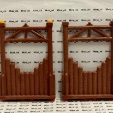 Playmobil: PLAYMOBIL 4433 2 PAREDES MADERA SYSTEM X FORTALEZA VIKINGA EMPALIZADAS. Lote 243197425