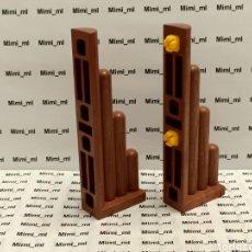 Playmobil: PLAYMOBIL 4433 2 CONECTORES MADERA SYSTEM X FORTALEZA VIKINGA UNIÓN PARED EMPALIZADA. Lote 243198400