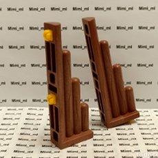Playmobil: PLAYMOBIL 4433 2 CONECTORES MADERA SYSTEM X FORTALEZA VIKINGA UNIÓN EMPALIZADA PARED. Lote 243198805