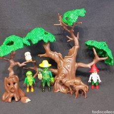 Playmobil: ÁRBOLES MÁGICOS DE PLAYMOBIL, DUENDE Y GNOMOS VINTAGE. Lote 243994460