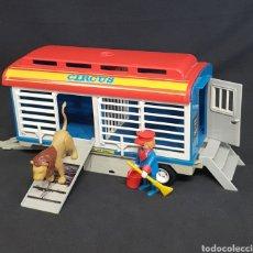 Playmobil: REMOLQUE LEÓN CIRCO VINTAGE DE PLAYMOBIL, REF 3514. Lote 243996970