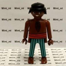 Playmobil: PLAYMOBIL FIGURA HOMBRE TRIPULACIÓN BARCO PIRATA NEGRITO AFRICANO. Lote 244436645