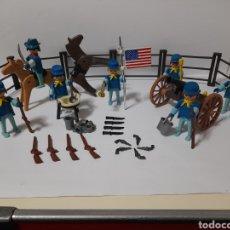 Playmobil: PLAYMOBIL 3408 REF COMPLETA CAÑON SOLDADOS UNION NORDISTAS WESTERN OESTE1°GENERACION. Lote 244908870