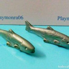 Playmobil: PLAYMOBIL C001 ANIMALES PEZ DOS PESCADO PESCADERIA COCINA. Lote 246354950