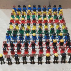 Playmobil: SUPER LOTE 100 MUÑECOS PLAYMOBIL FAMOBIL GEOBRA 1974 MANOS FIJAS SHERIFF MEDIEVAL INDIOS OESTE. Lote 248642595