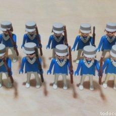 Playmobil: LOTE SOLDADOS PLAYMOBIL NÓRDISTA SUDISTA OESTE RIFLE GORRA SOMBRERO PAÑUELO MANOS FIJAS GEOBRA 1974. Lote 248718095