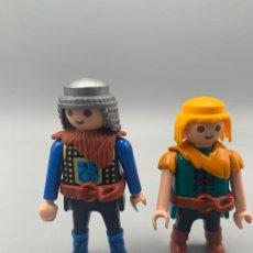 Playmobil: PLAYMOBIL LOTE FIGURAS MEDIEVALES EMANÓ VIKINGO. Lote 252068945