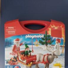Playmobil: PLAYMOBIL PAPA NÖEL SANTA CLAUS TRINEO. Lote 252765425