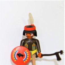 Playmobil: PLAYMOBIL MEDIEVAL FIGURA GUERRERO INDIO OESTE JEFE. Lote 254104505