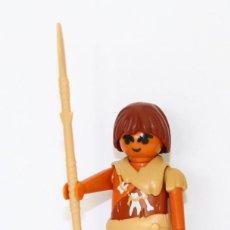 Playmobil: PLAYMOBIL MEDIEVAL FIGURA CAZADOR PREHISTORICO LANZA. Lote 254104630