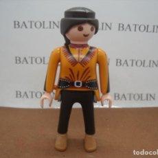 Playmobil: PLAYMOBIL SOLO OESTE INDIOS FIGURAS MUJER CIUDAD. Lote 255519845