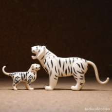 Playmobil: PLAYMOBIL TIGRE BLANCO CON CRÍA, ANIMALES SALVAJES JUNGLA SELVA ROMANOS ZOO CIRCO. Lote 256088440